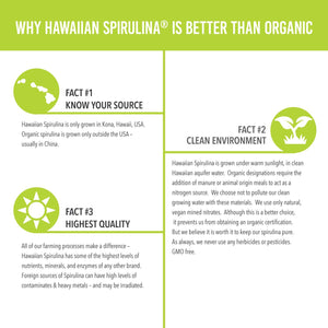 Why Nutrex Hawaiian Spirulina Pacifica is better than Organic Infographic