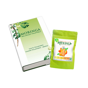 GREENEARTH MORINGA PREMIUM LOOSE LEAF TEA 2.12 OZ. (60G) + Moringa Book