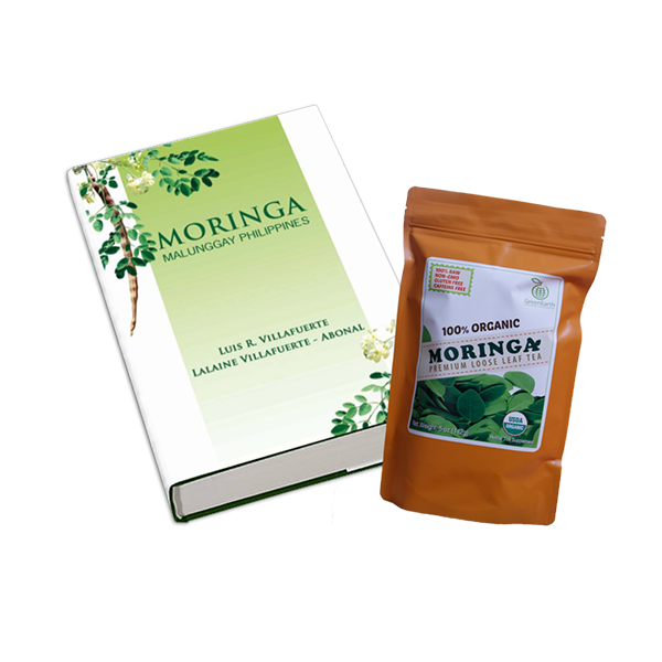GREENEARTH MORINGA PREMIUM LOOSE LEAF TEA 5 OZ. (142G) + MORINGA BOOK