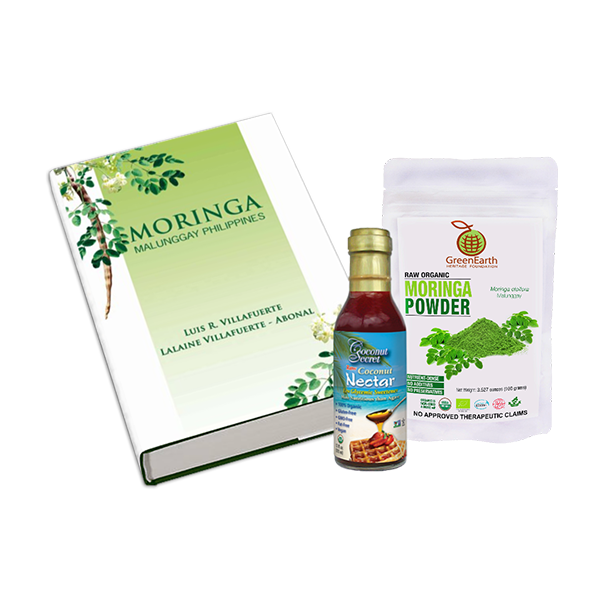 GREENEARTH MORINGA POWDER 3.5 OZ. (100G)+ COCONUT SECRET® COCONUT NECTAR 12 FL. OZ.