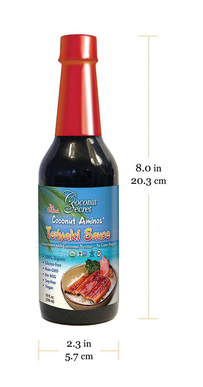 Coconut Secret® Coconut Aminos Teriyaki Soy-Free Seasoning Sauce, 10 fl. oz. 1 Dozen at $7.89/pc