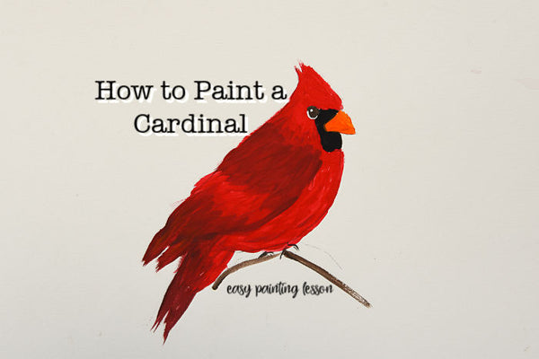 How to paint a Cardinal e-book with Traceable Pattern