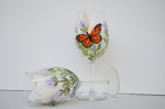 Paint Monarch Butterfly & Lavender on Glass Workbook