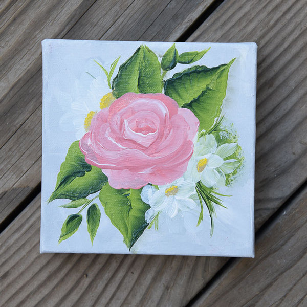 Coral Rose Painting