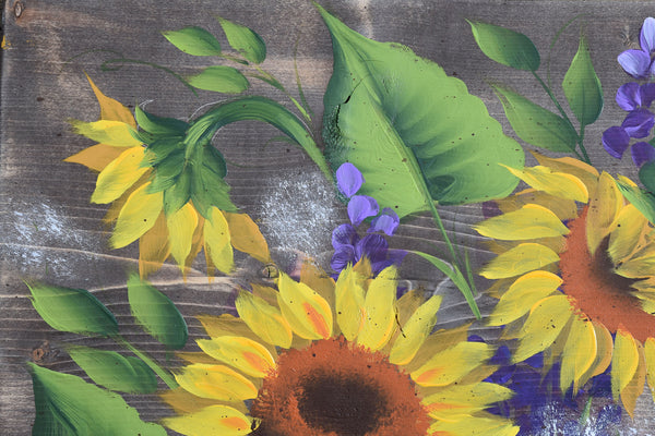 Sunflower & Delphs video workshop with printable pattern