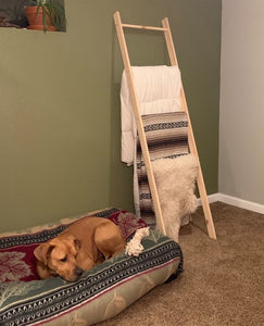 Reclaimed Wood Blanket Ladder