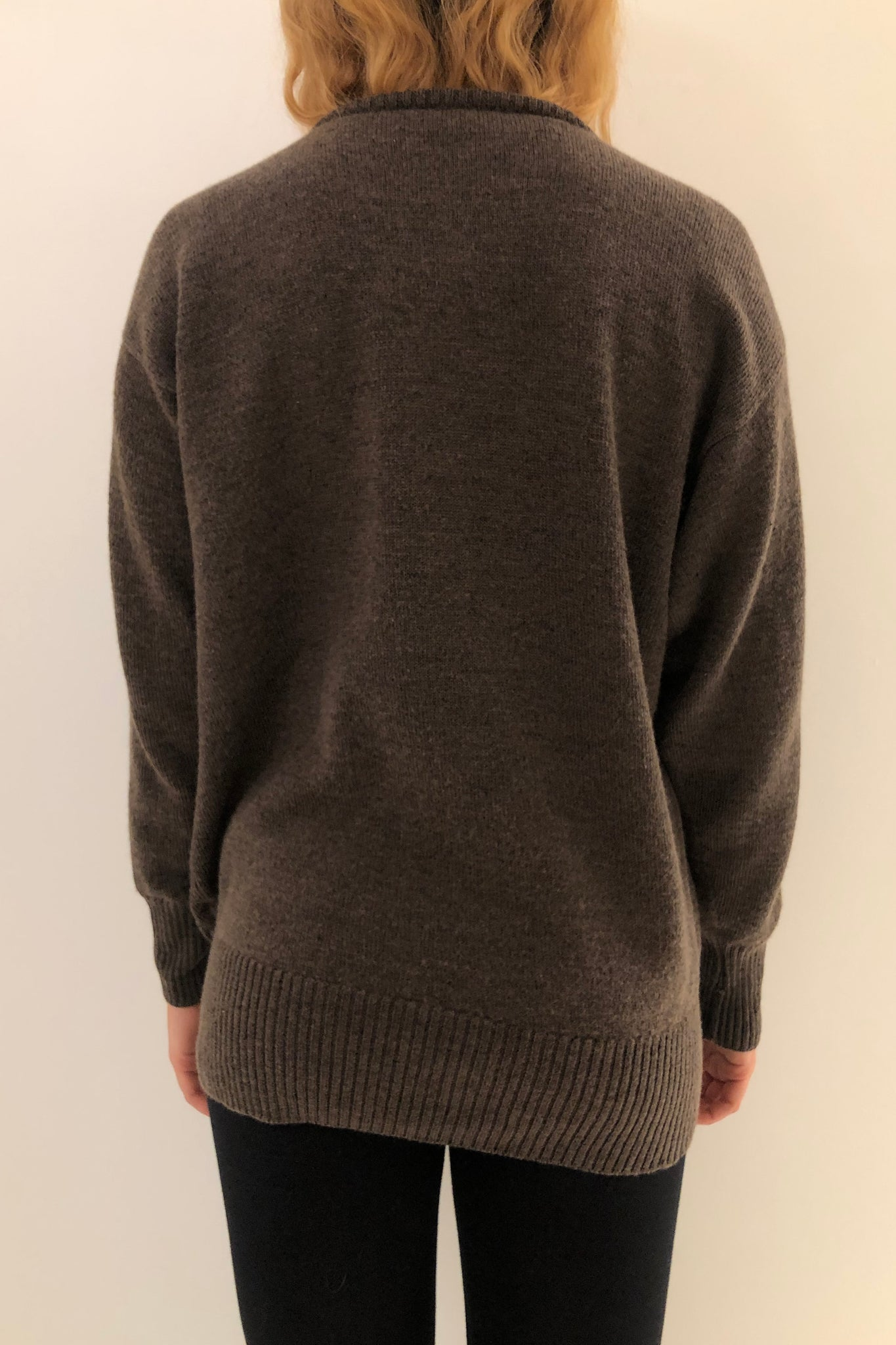 Brown Wool Henley