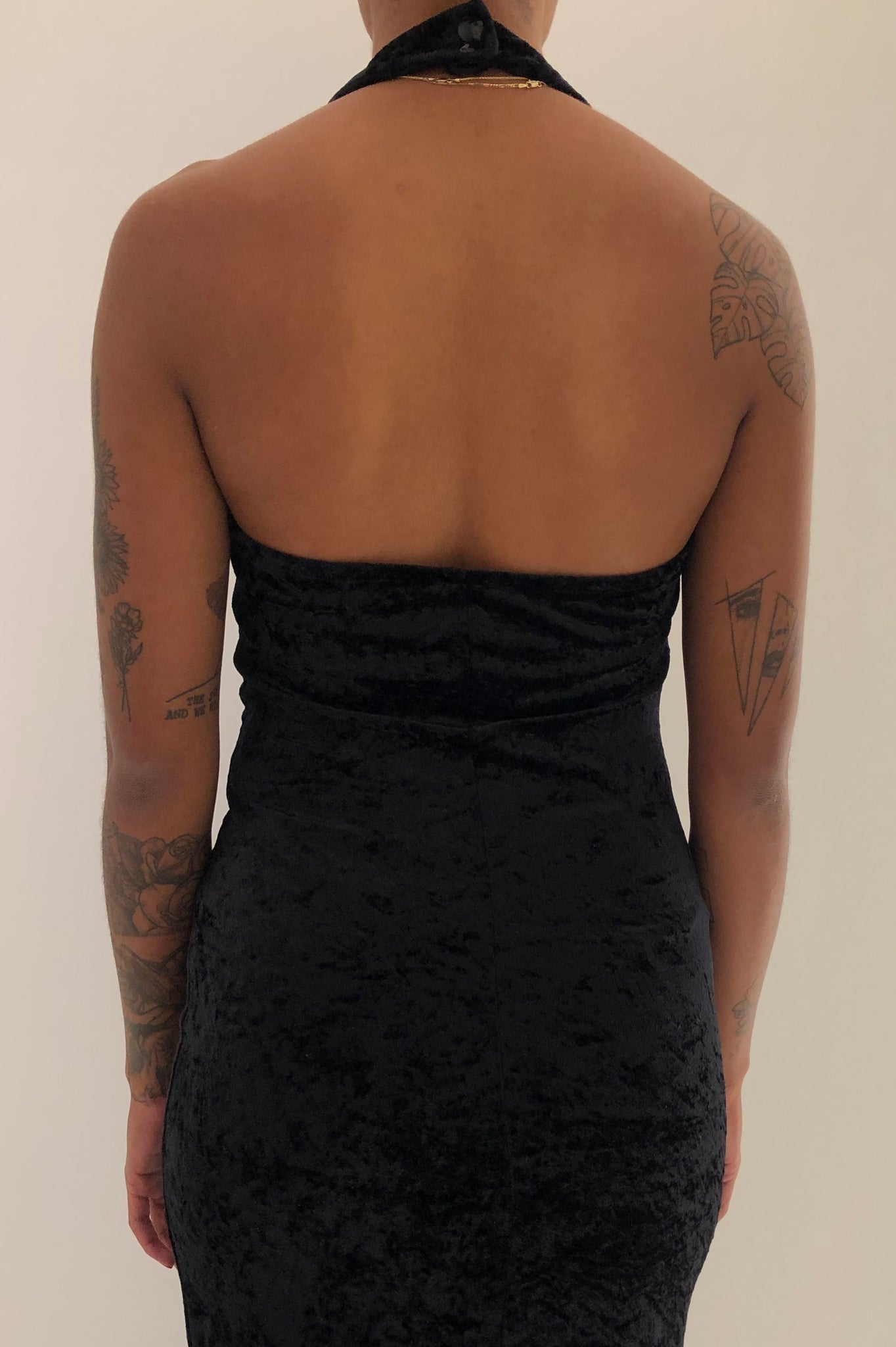 Vintage Velvet Black Cocktail Dress