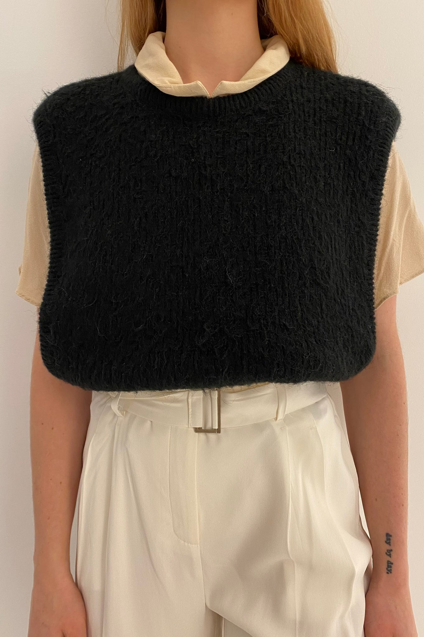 Black Wool Sleeveless