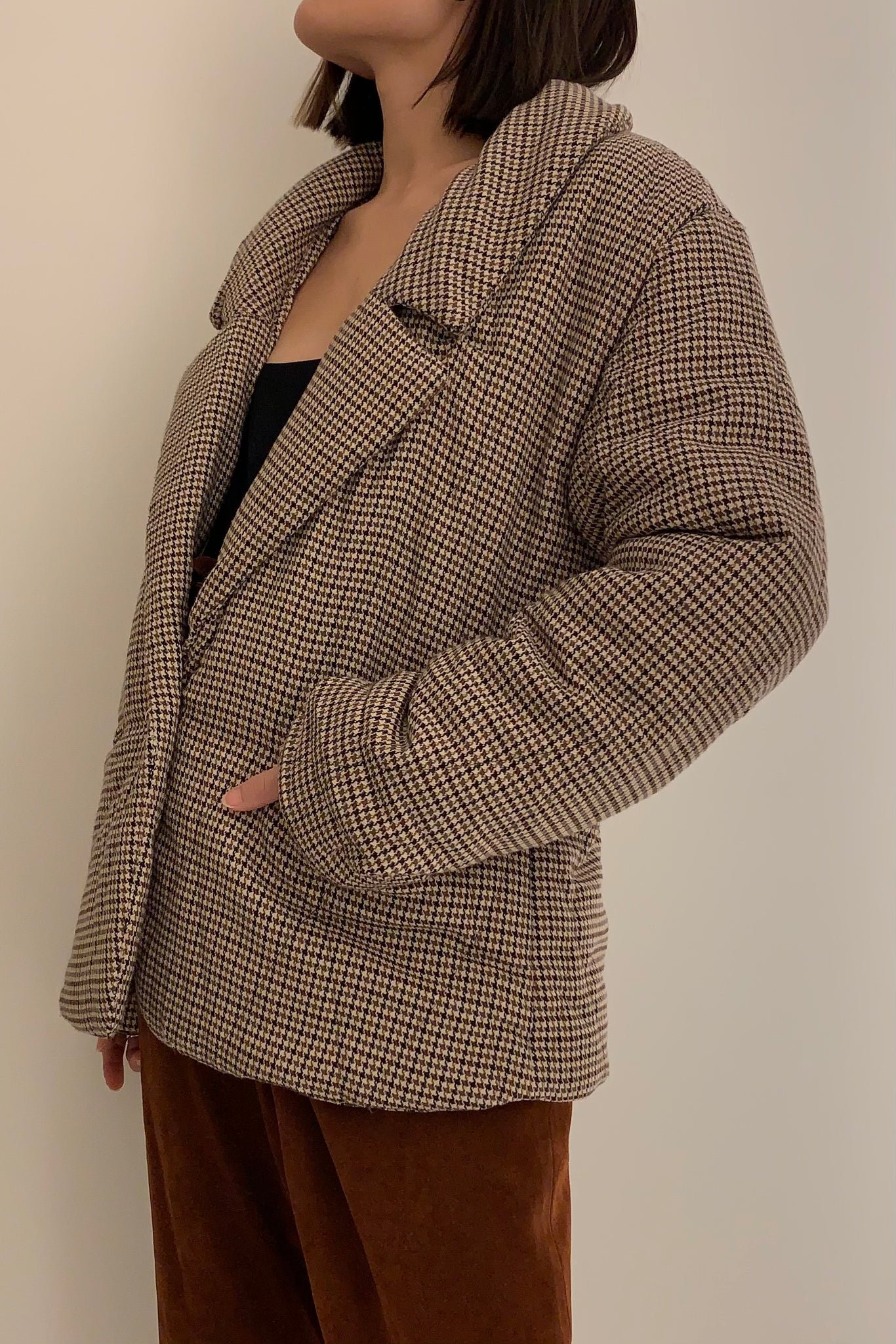 Free People Houndstooth Blazer Jacket