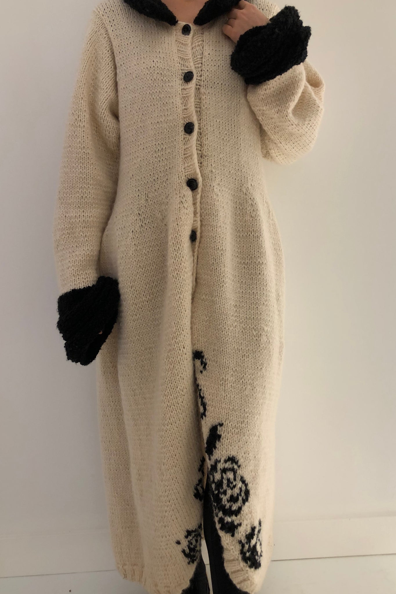 Vintage Oversized Knitted Cardigan