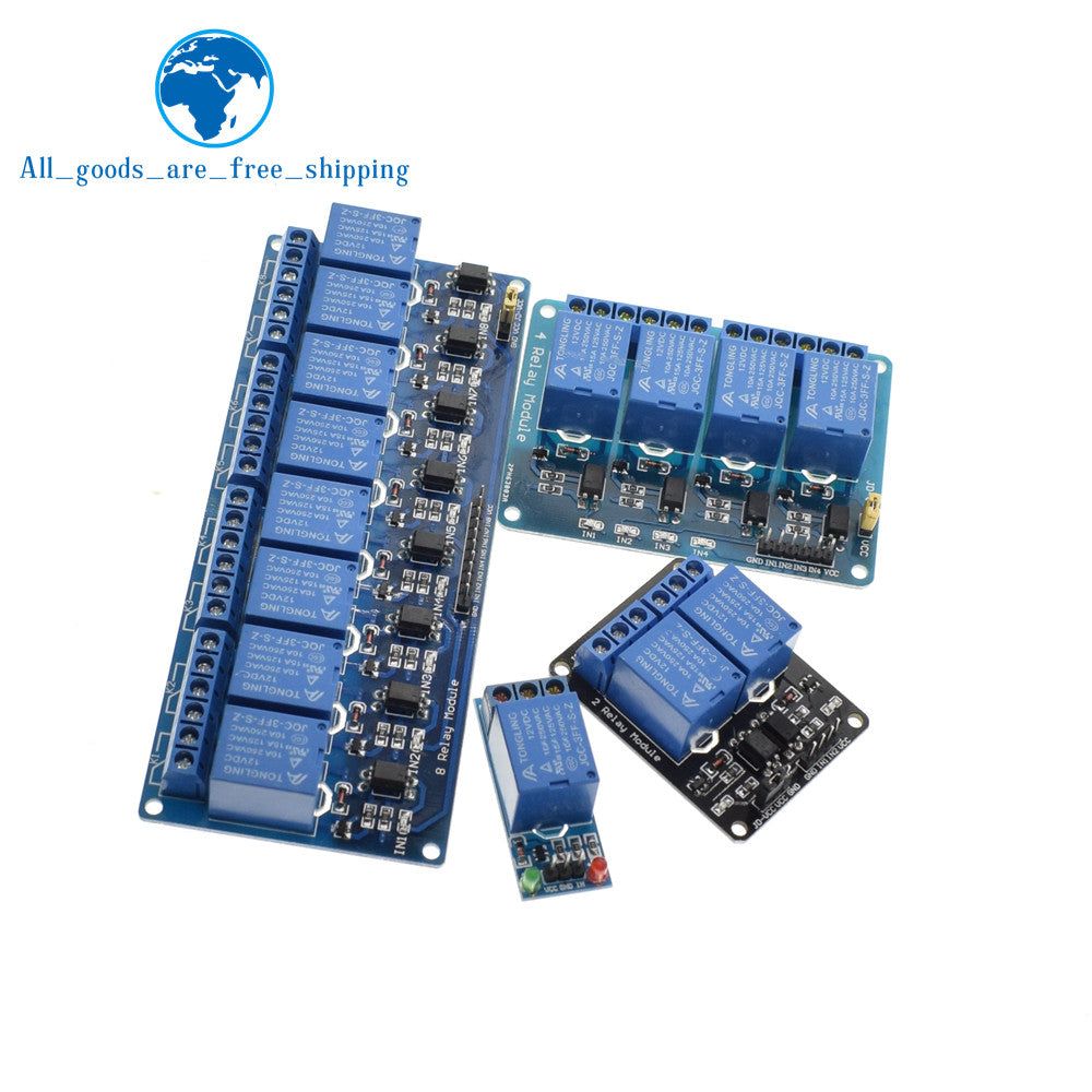 5v 12v 1 2 4 8 Channel Relay Module For Arduino Pasila Store High Current