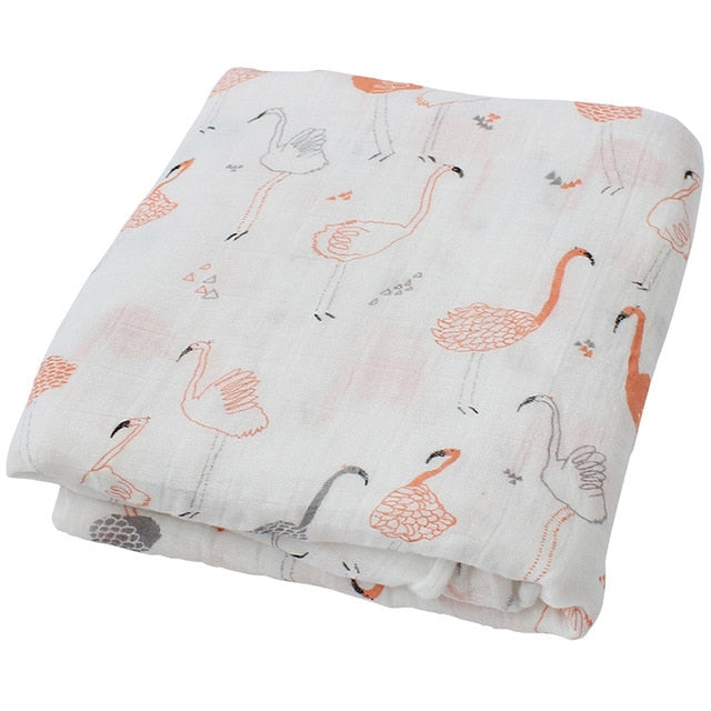 Lange motifs flamants roses