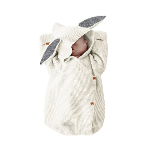 Gigoteuse lapin tricot blanc