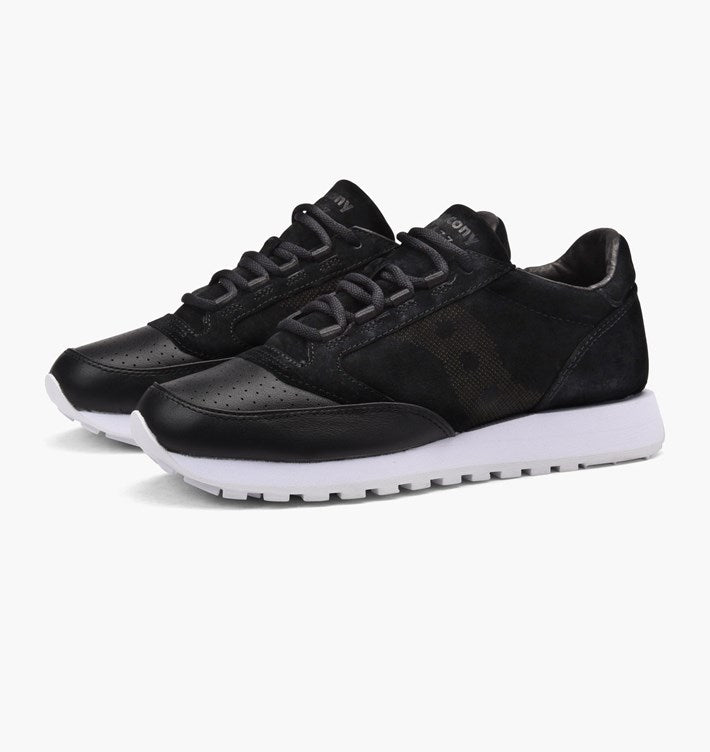 sports shoes 2aa5b 10d05 SAUCONY Jazz O Lux 35-BK S70264-1 BLACK