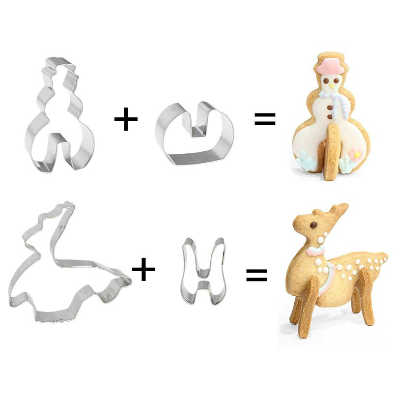 8pcs 3D Christmas Cookie Cutter Set