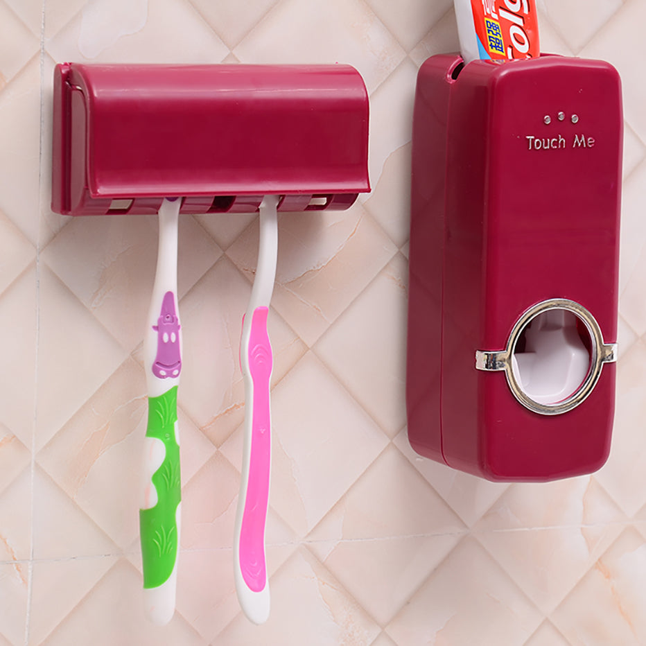 Wall-Mount Tooth Brush Holder & Toothpaste Dispenser - RB Trends