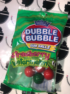Double Bubble Gum Balls Strawberry and Watermelon