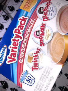 Hostess Hot Cocoa Cappuccino 30pc Variety Pack