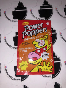 Power Poppers Exploding Candy Strawberry 5.5g