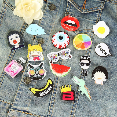ADORABLE Japanese Harajuku Acrylic Pins