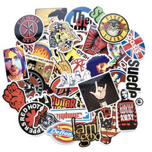 Load image into Gallery viewer, ROCK + ROLL!  Variety packs of retro Rock Punk Emo Grunge Hip Hop music decals