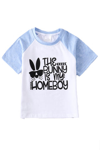 The Bunny is My Homeboy Boys Easter Shirt