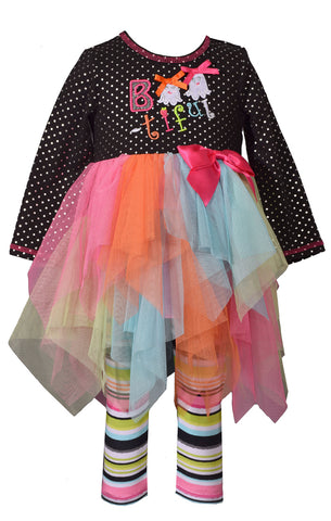 Bonnie Jean Bootiful Halloween Tutu and Legging Set