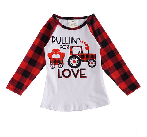Buffalo Plaid Valentine's Day Shirt