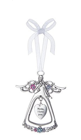 Ganz - Nana I Love You Silver Angel Ornament / Charm