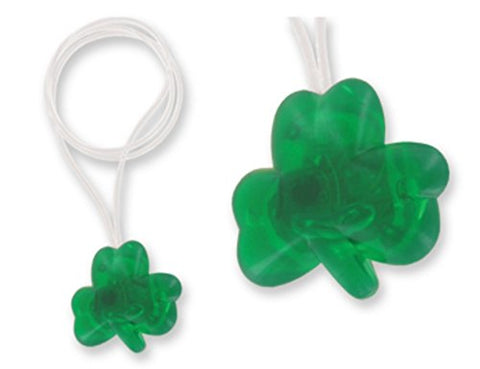 LED Flashing Shamrock St. Patrick's Day Necklace