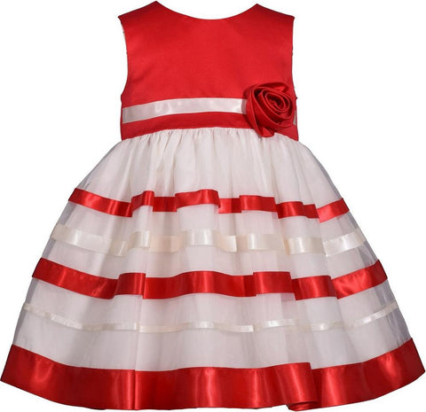 Bonnie Jean Red and Ivory Dress Set