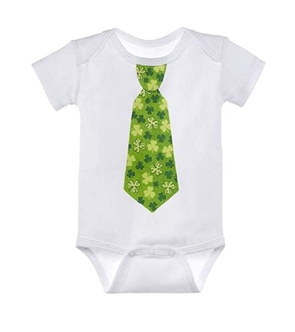Baby Ganz First St. Patrick's Day Onesie with Shamrock Tie