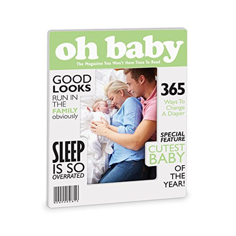"Really Great News ""Oh Baby"" Magazine Style Frame"