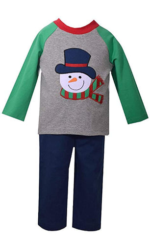 Matt's Scooter Holiday Snowman Playwear Set