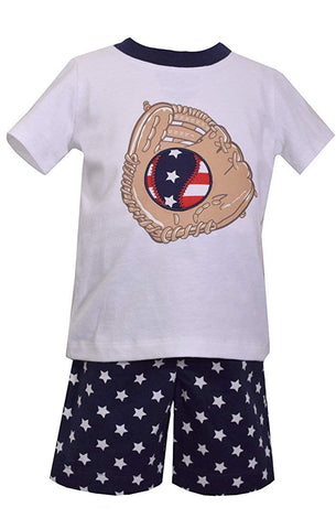 Matt's Scooter Patriotic Baseball Shorts Set