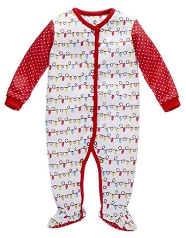 Baby Ganz Christmas Sleep and Play Romper
