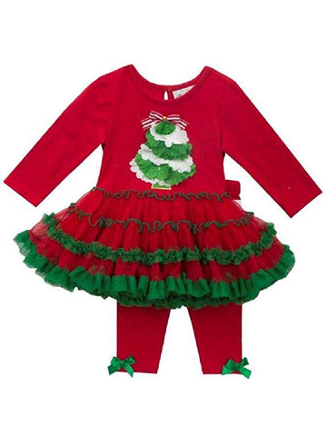 Rare Editions First Christmas Red and Green Full Tutu