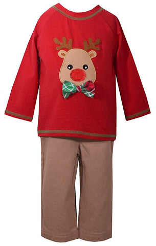 Matt's Scooter Holiday Reindeer Playwear Set