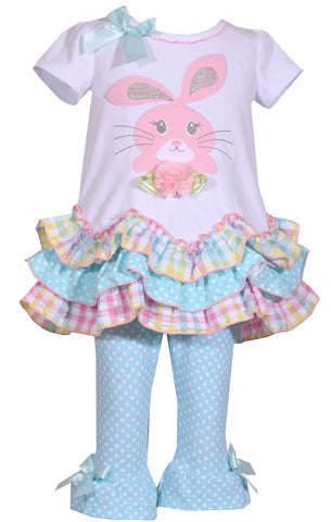 Bonnie Jean Pastel ruffle Easter Bunny Set