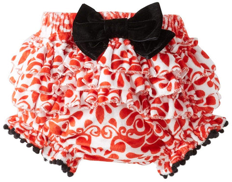 Mud Pie Baby Girl Damask Ruffled Diaper Cover