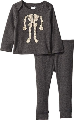 Mud Pie Grey Skeleton Playwear Set