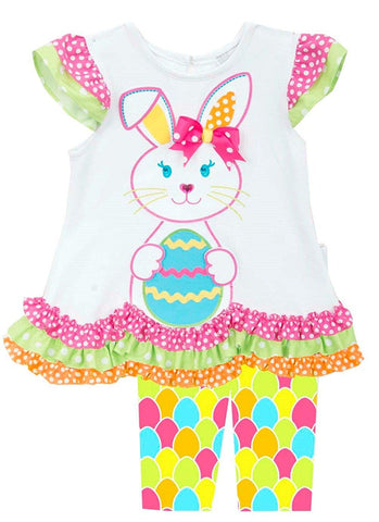 Rare Editions Easter Bunny with Egg Leggings Set