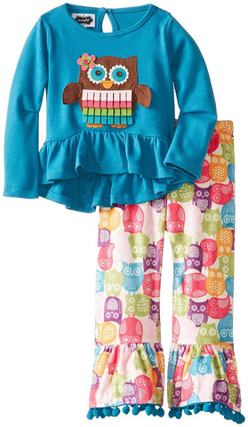 Mud Pie Funky Owl 2pc. Set