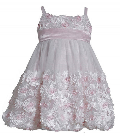 Bonnie Jean Pink and Ivory Special Occasion Dress