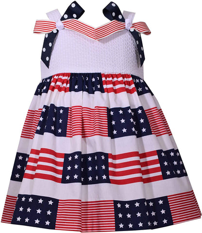 Bonnie Jean American Flag Summer 4th of July Dress