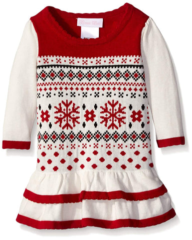 Bonnie Jean Fair Isle Sweater Dress