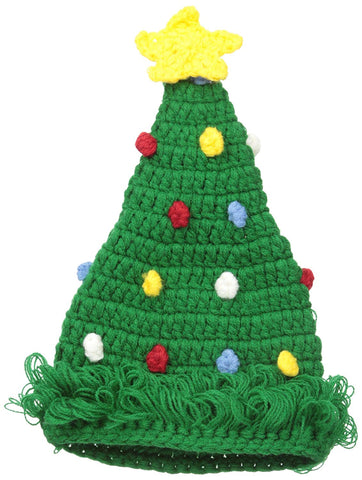 Mud Pie Christmas Tree Crocheted Hat