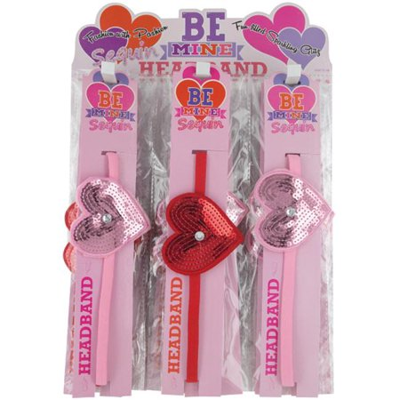 Sequin Heart Girls Headbands