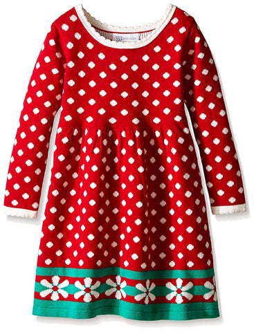 Bonnie Jean Red Polka Dot Sweater Dress